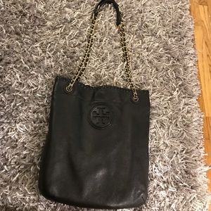 Leather Tory Burch Swingpack in Black